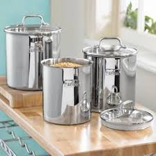 kitchen canisters stainless steel airtight watertight stainless steel food storage containers