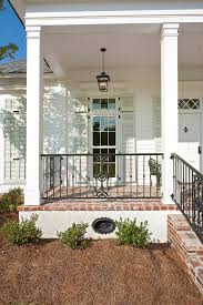 metal porch railing porch traditional with iron railing covered