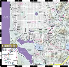 Muni Bus Map Streetwise San Francisco Map Laminated City Center Street Map Of