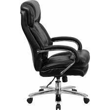 Leather Executive Desk Chair Flash Furniture Hercules Series 24 7 Intensive Use Multi Shift