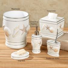 cape cod coastal seashell bath accessories click to expand