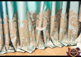 great curtains at villa in dubai by luxury antonovich design