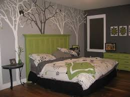 gray and green bedroom excellent images of delectable gray bedroom by artwork trees wall