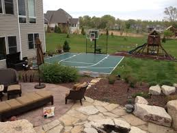 snapsports outdoor basketball courts game courts millz house