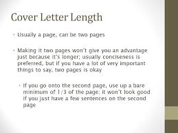 two page cover letter