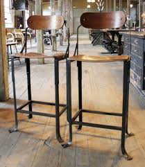 Vintage Industrial Bar Stool Furniture Marvelous Outstanding Metal And Wood Bar Stools