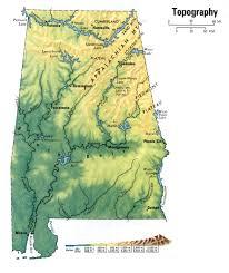 Map Alabama Landscape Of Alabama