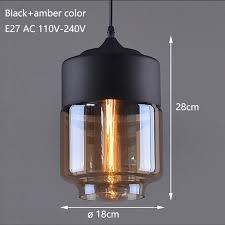 Black Glass Ceiling Light Modern Black Glass Pendant L