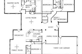 one story floor plans one story floor plans one story open floor house plans single