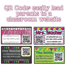 Business Card With Qr Code Teacher Business Card Magnet Editable With Qr Code By Cupcakes N