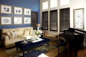 plantation blinds living room contemporary with area rug beige
