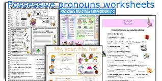 english teaching worksheets possessive pronouns