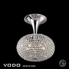 Chrome Ceiling Lights Uk Diyas Il30416 Vado Semi Flush Ceiling 5 Light Polished Chrome