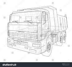 land rover defender vector dump truck vector rendering 3d wireframe stock vector 723549280