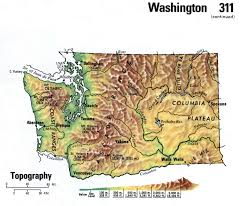 Detailed Map Of Washington State by Map Of Washington State
