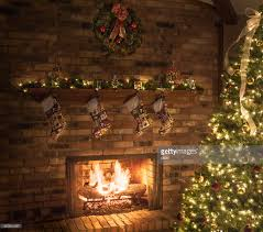 fireplace quilted roaring tree lights