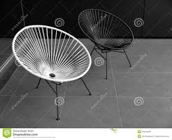 Black Patio Chairs by Outdoor Furniture Black And White Chairs Royalty Free Stock