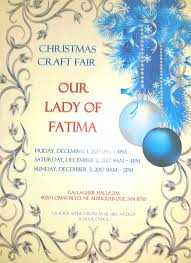 our lady of fatima christmas craft fair at our lady of fatima