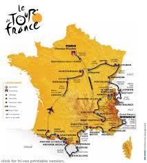 Tour De France Map by The Long Ride 2009 Tour De France Route Revealed