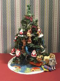 miniature dollhouse christmas trees christmas lights decoration