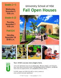 university of nsu hosts open house starts nov 6 nsu