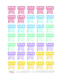 free teacher planner template wendaful printable stickers planners free weekday flags stickers for erin condren planners