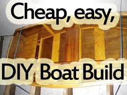 cheap easy to build diy flat bottom wooden 2 man boat from scratch