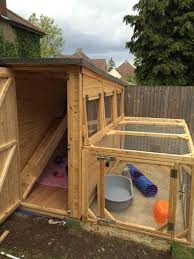 large guinea pig shed with a large rabbit run made in the uk by