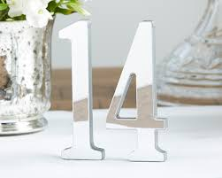 silver wedding table numbers wedding table numbers table number holders