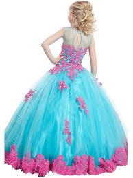 amazon com fatefulbridal girls u0027 ball gown appliques beads o neck