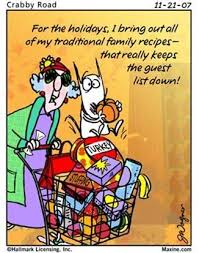 thanksgiving happy maxine shopping basket guests maxine