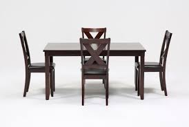 Dining Room Side Chairs Dakota 5 Dining Table W Side Chairs Living Spaces