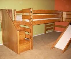 interior essential loft bed with slide essential home loft bed