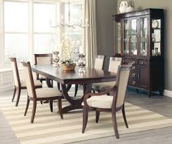 8 piece cappuccino wood dining table set by coaster