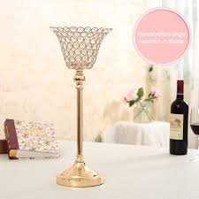 crystal candle holder lotus candle lantern flower candle stands