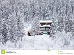 Winter Houses Cozy Isolated Home In Winter Forest Stock Image Image 13665911