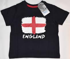 Englands Flag Boys England Flag T Shirt St Georges Cross Navy English Primark