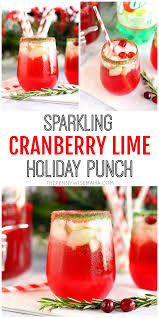 holiday cocktails png sparkling cranberry lime holiday punch the pennywisemama