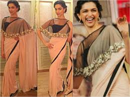 cape designs striking blouse designs wore by deepika padukone