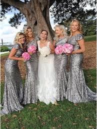 bridesmaid dresses silver sequins cap sleeves silver bridesmaid dresses 99601001