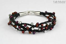 bracelet woven images Woven bracelet tutorial winterberry beads crafts unleashed jpg