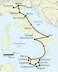 Pompeii Map Sicilian Odyssey Itinerary U0026 Map Wilderness Travel