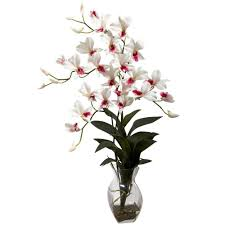 white dendrobium orchids nearly dendrobium orchid with vase arrangement in white