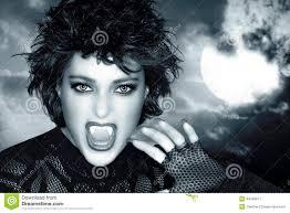 beautiful gothic female werewolf stock photo image 44193811