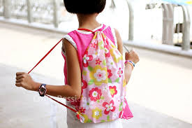 kindergarten backpack pattern drawstring backpack free sewing pattern craft passion