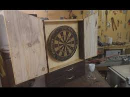 Dart Board Cabinet Plans Jordswoodshop Build A Dartboard Cabinet Pt 2 Of 2 Beginner