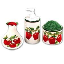 Lovely Apple Kitchen Decor Apple Ceramic Kitchen 4 Set New Green