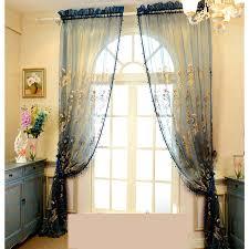 Sheer Blue Curtains Luxury Dark Blue Organza Fabric Sheer Curtains