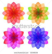 abstract flower background element design price stock vector