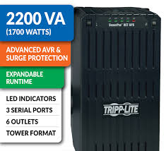 amazon com tripp lite smart2200net 2200va 1700w ups smart tower